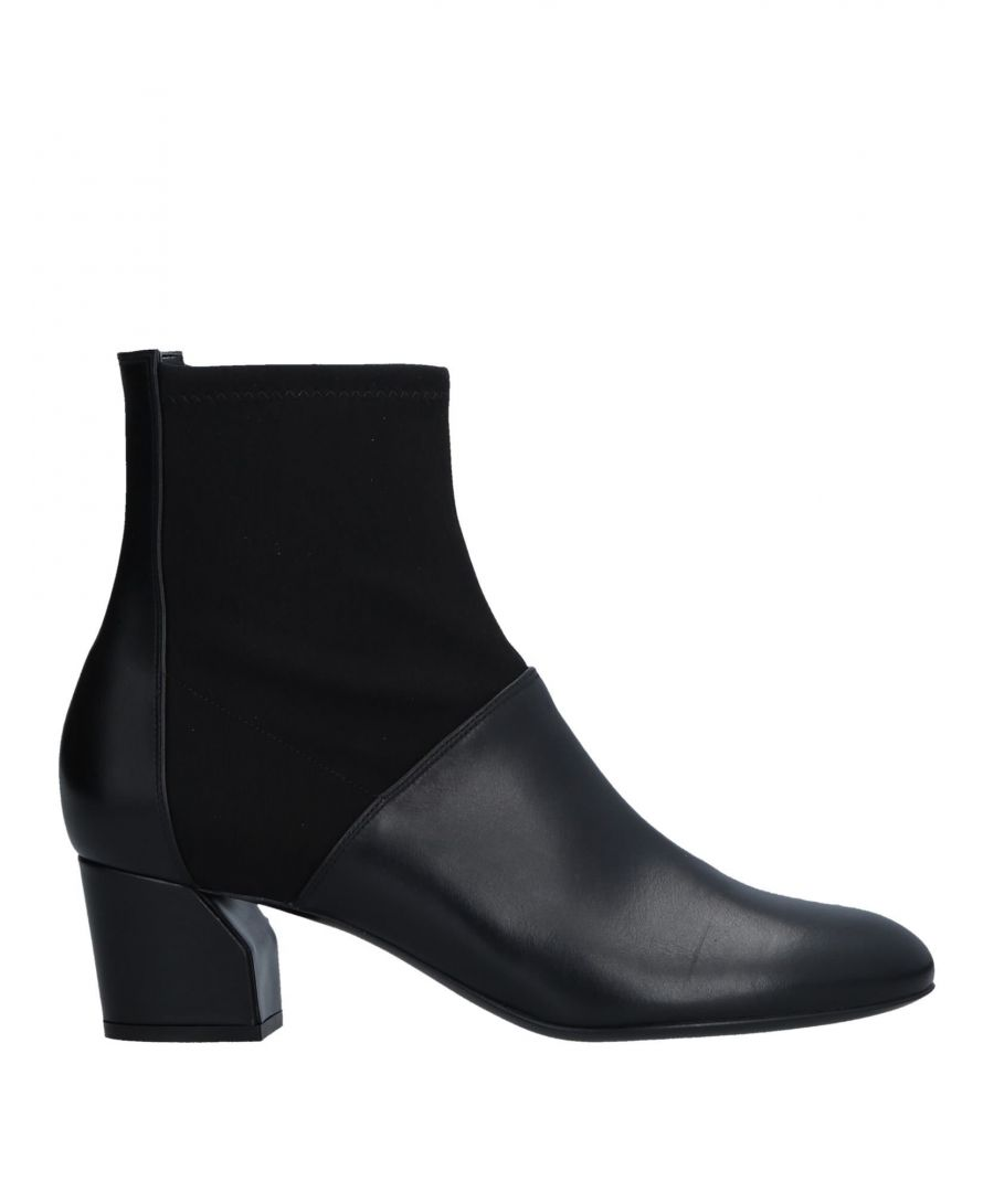 Image for Casadei Black Leather Ankle Boots