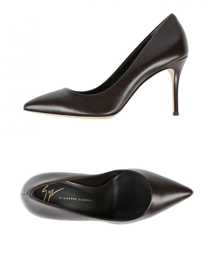 Image for Giuseppe Zanotti Dark Brown Leather Pointed Court Shoes