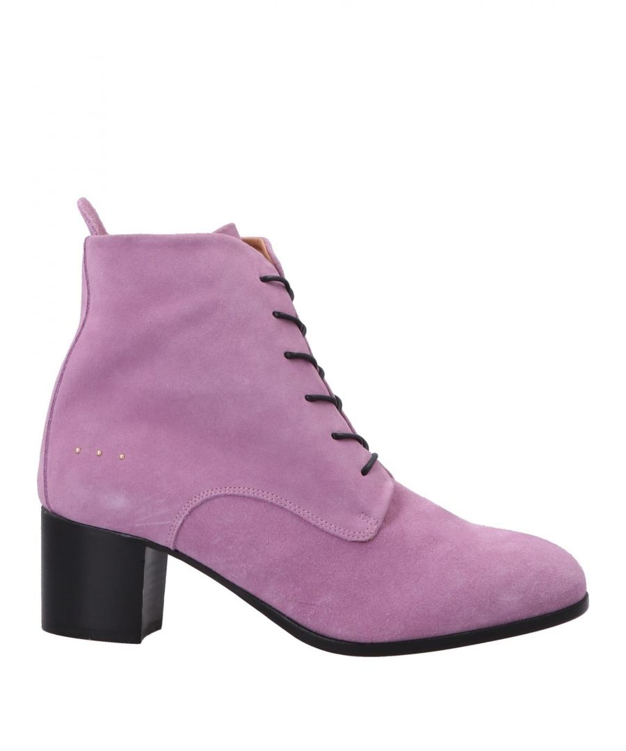 Image for L'F Shoes Light Purple Leather Lace Up Boots