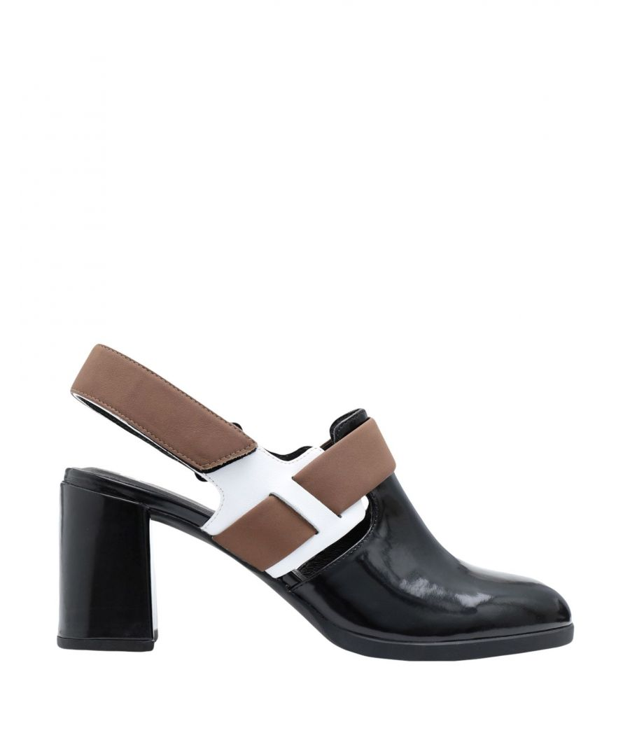 Image for Camper Black Leather Slingbacks