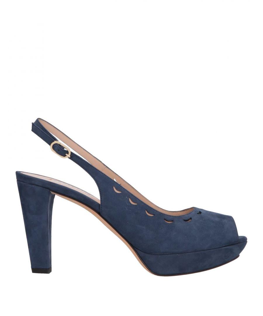 Image for Fratelli Rossetti Dark Blue Leather Slingback Heels