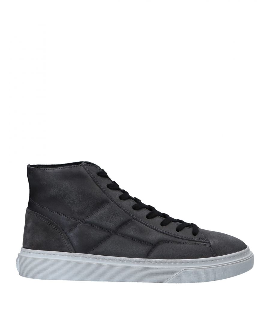 Image for Hogan Steel Grey Leather Sneakers