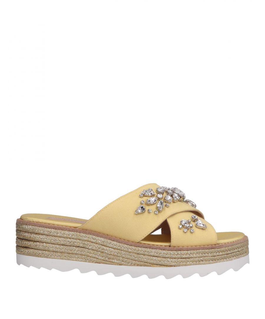 Image for Sebastian Yellow Embellished Espadrille Sandals