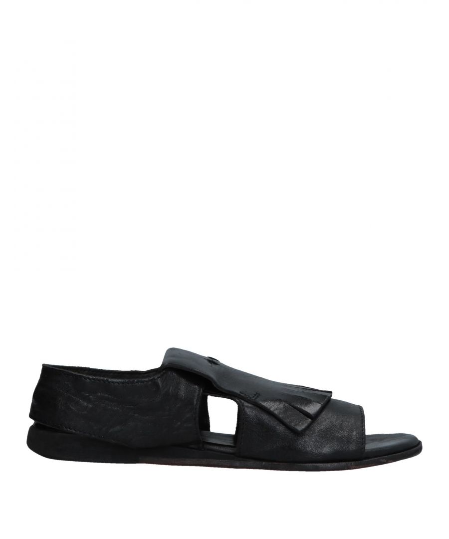 Image for Moma Black Leather Sandals