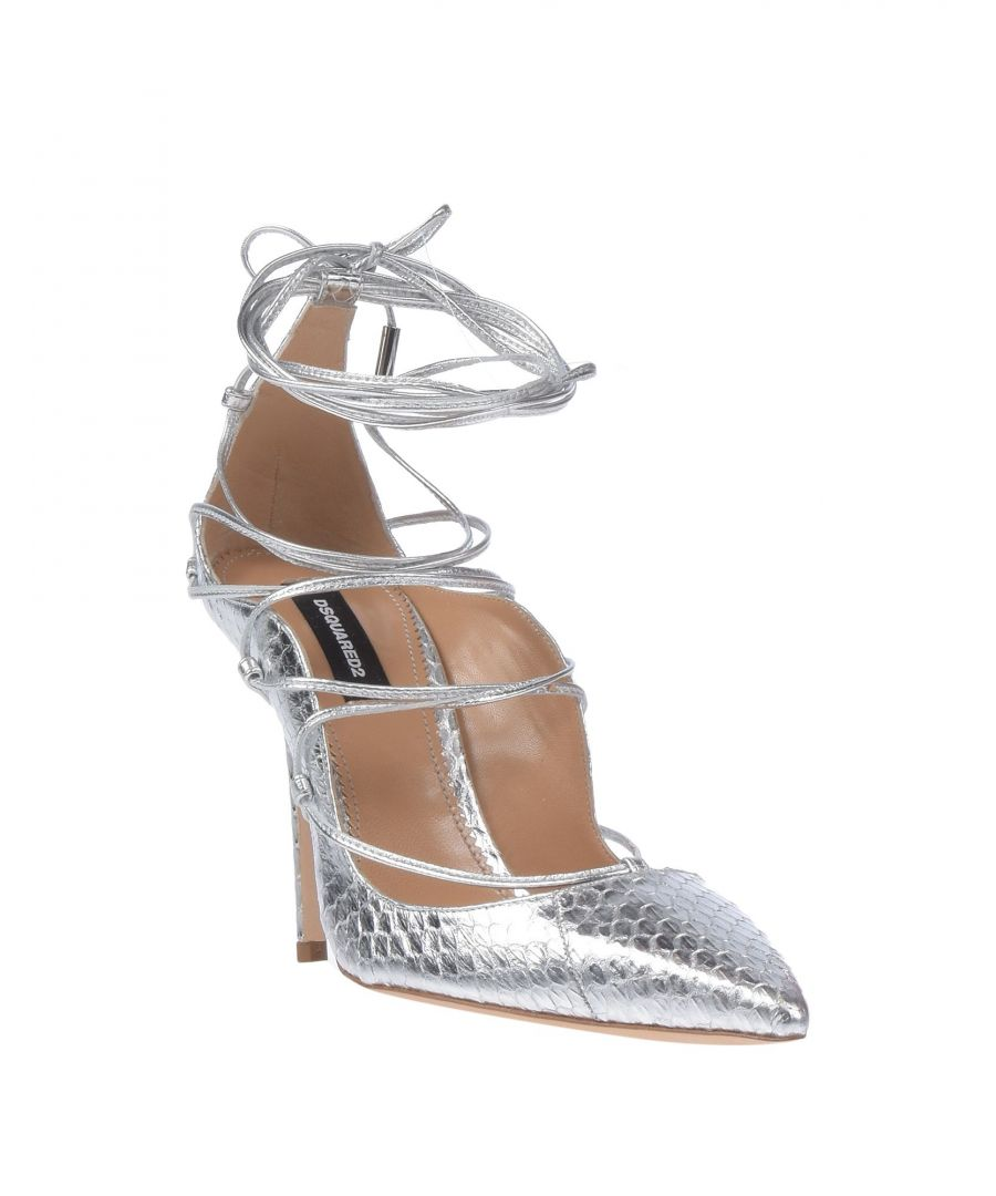 Image for Dsquared2 Silver Leather Heels