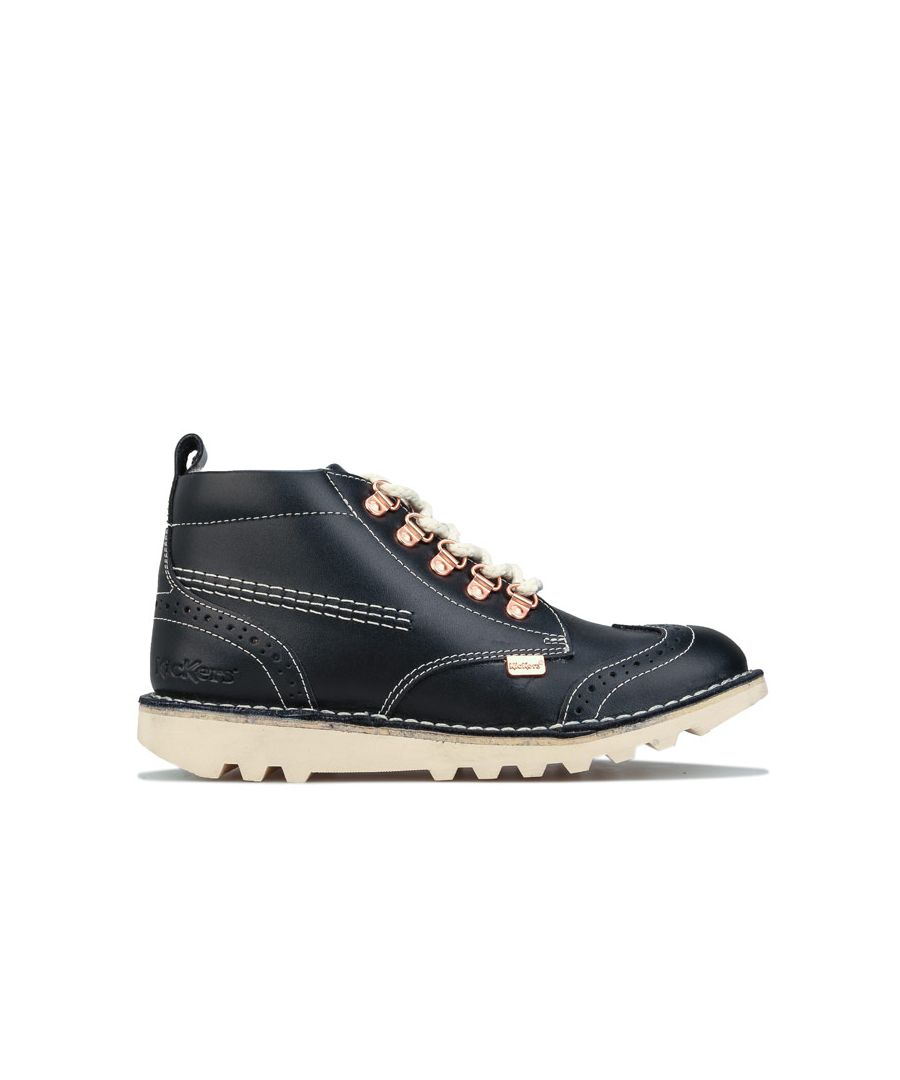 Image for Girl's Kickers Children Kick Fur Hiker Boots in Navy