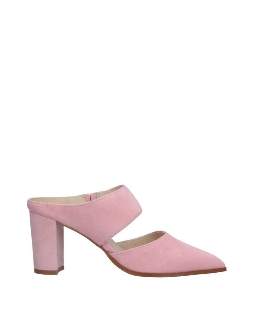 Image for Intentionally_______. Pink Leather Heeled Mules