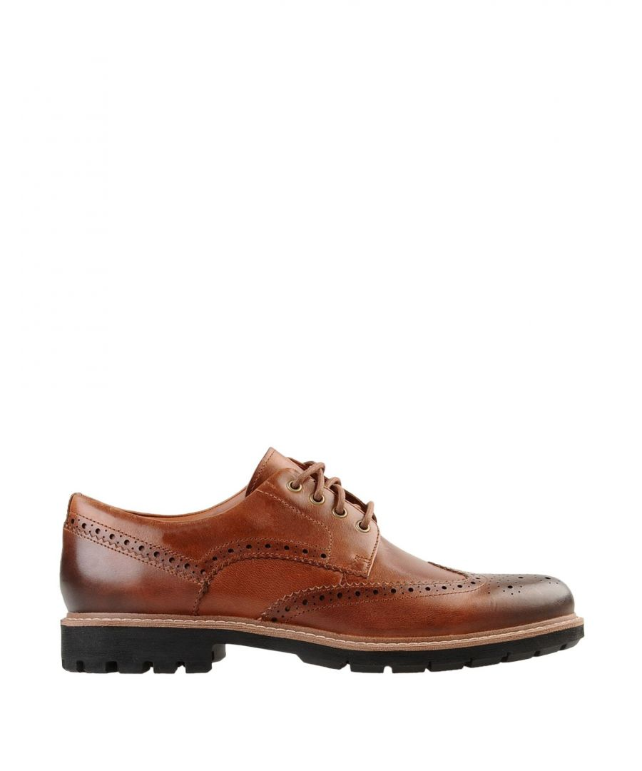 Image for Clarks Tan Leather Lace Up Shoes