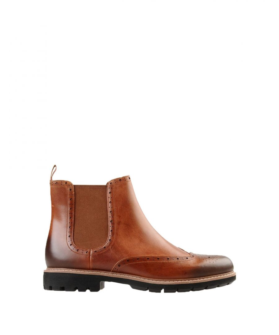 Image for Clarks Tan Leather Boots