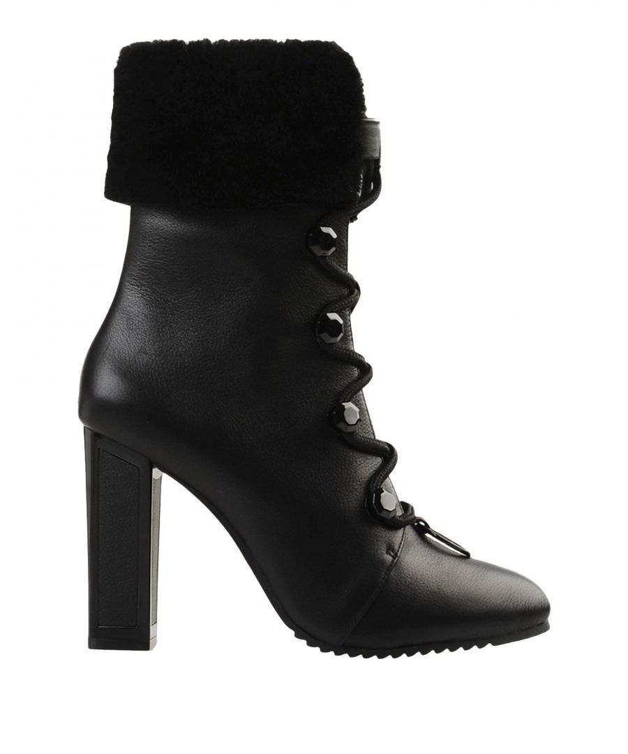 Image for Kat Maconie Black Leather Lace Up Boots