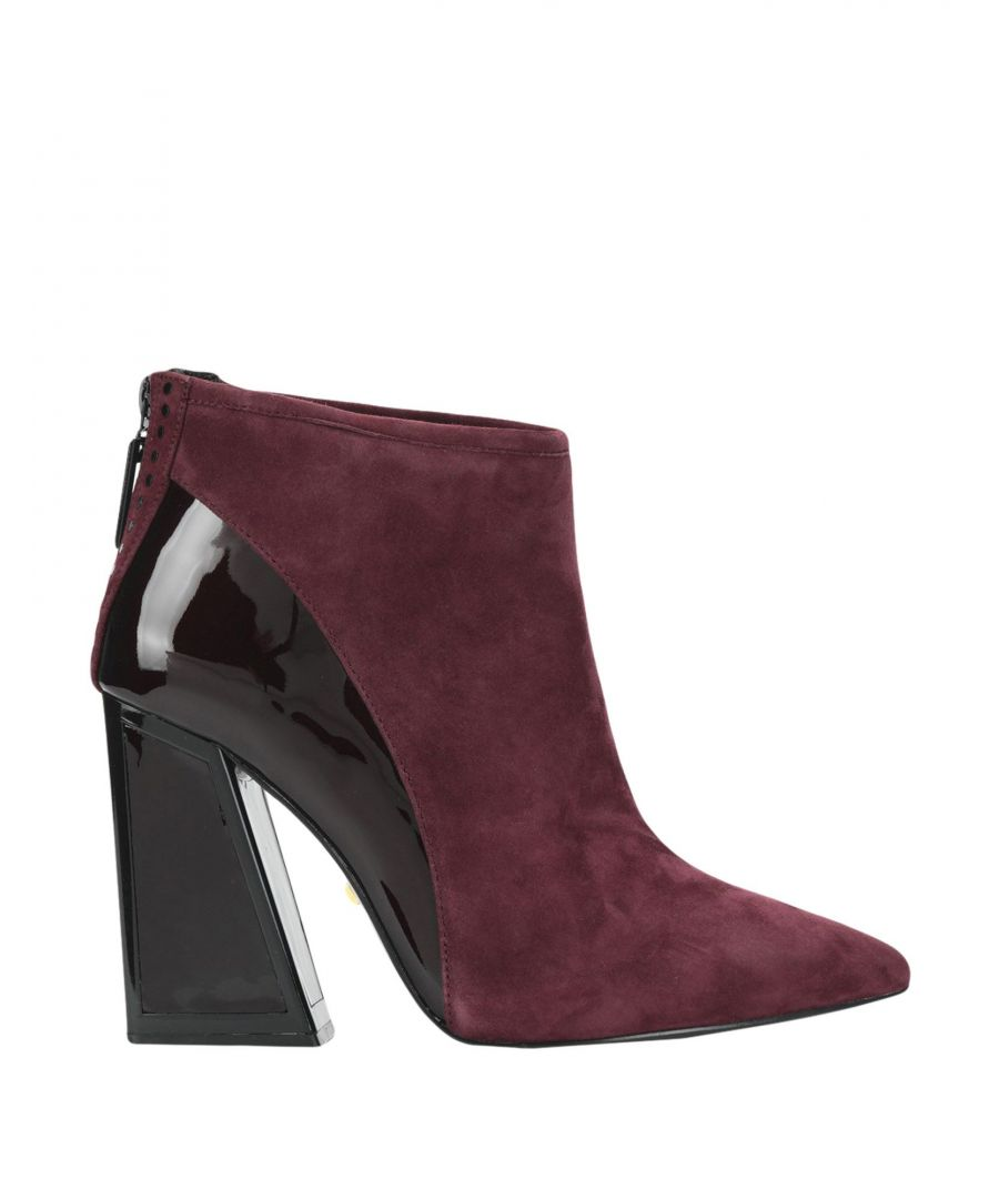 Image for Kat Maconie Maroon Leather Ankle Boots