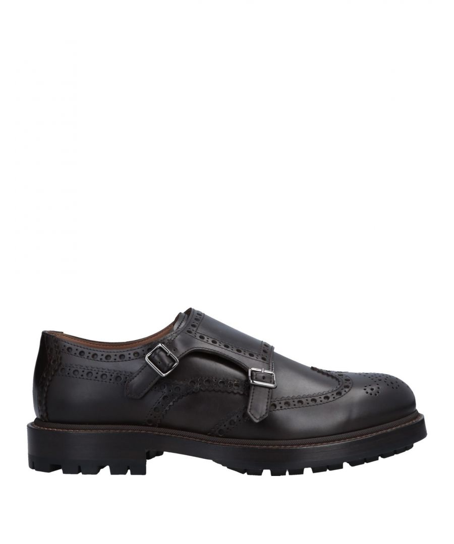 Image for Brunello Cucinelli Dark Brown Leather Double Monkstrap Shoes