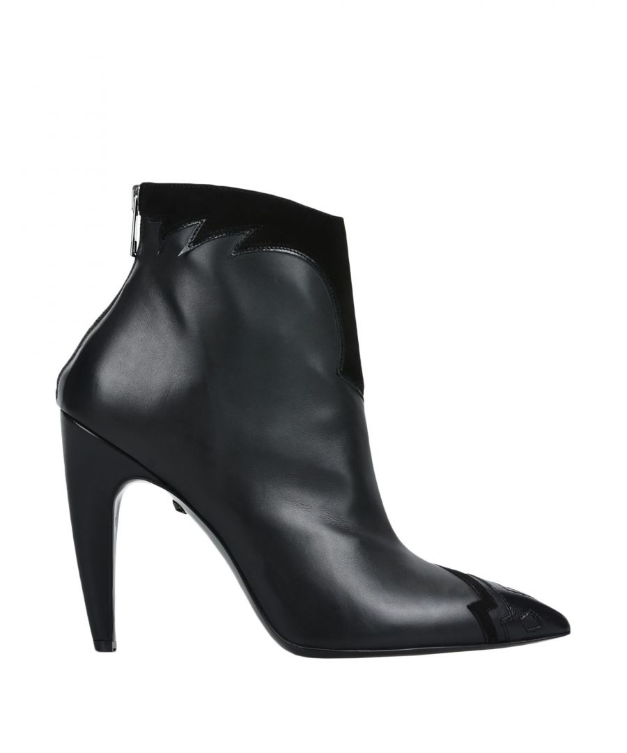 Image for Just Cavalli Black Sheepskin Leather Ankle Boots