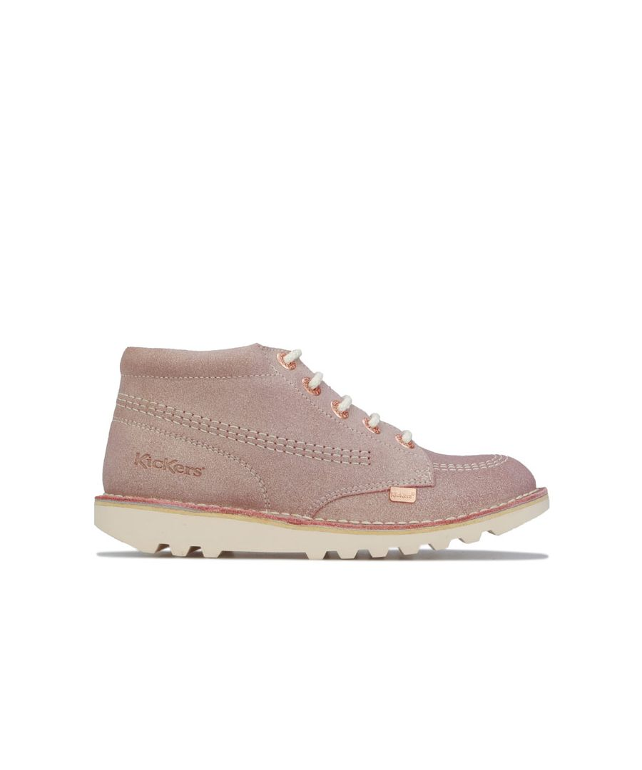 Image for Girl's Kickers Junior Kick Hi Suede Boots in Pink