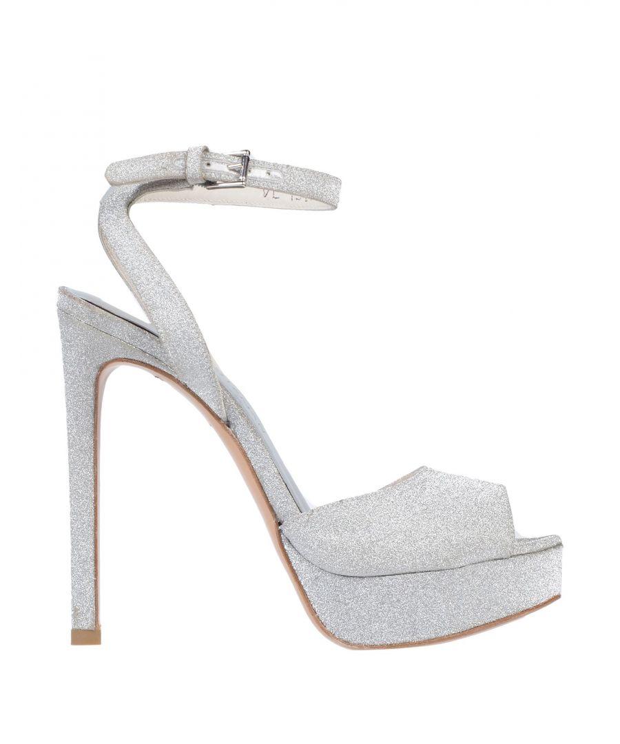 Image for Stuart Weitzman Silver Glitter Heeled Sandals