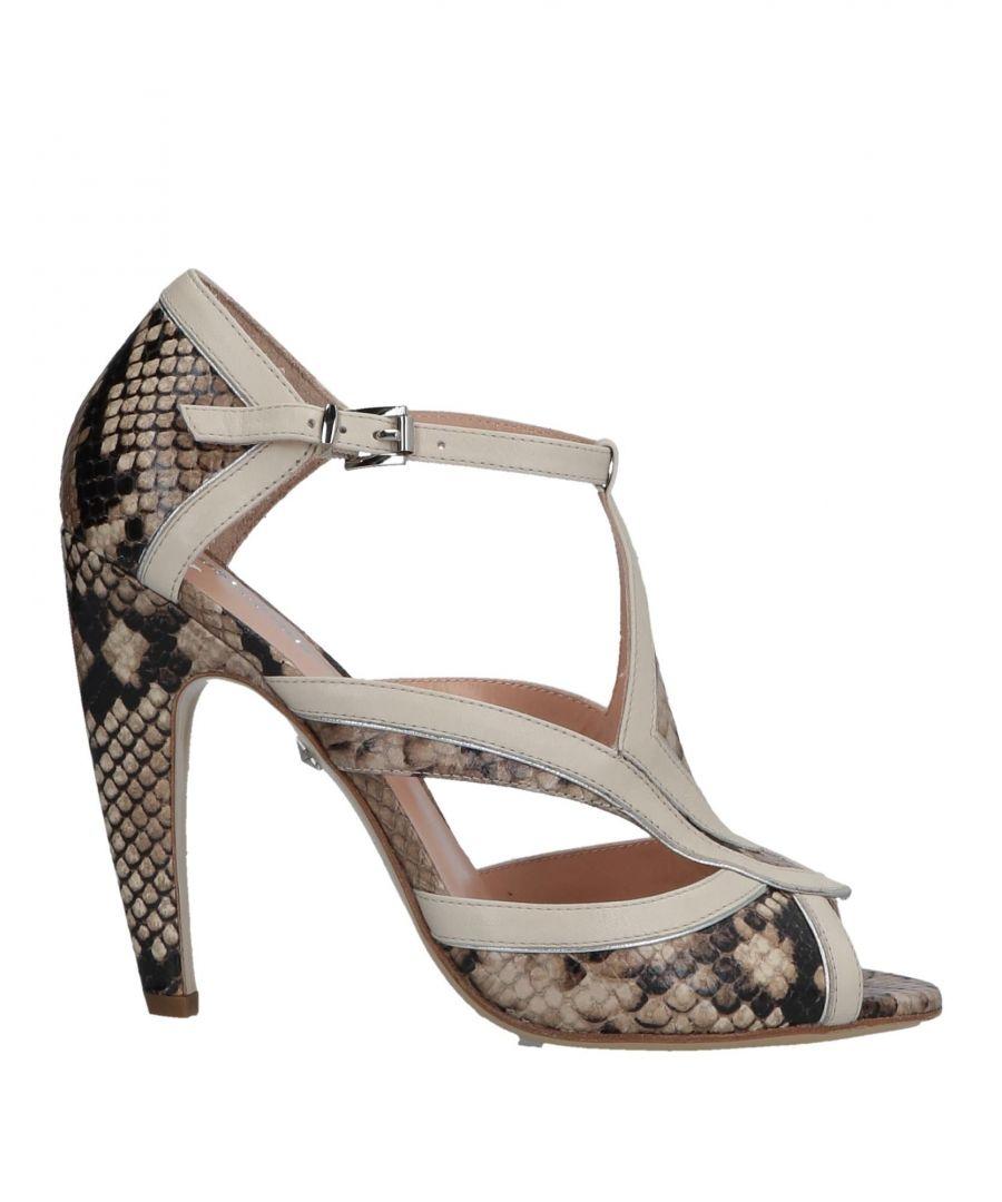 Image for Just Cavalli Beige Snakeskin Print Leather Heels
