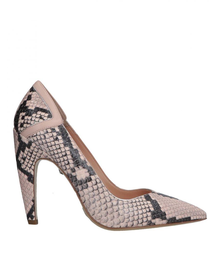 Image for Just Cavalli Light Pink Snakeskin Print Leather Court Shoe Heels