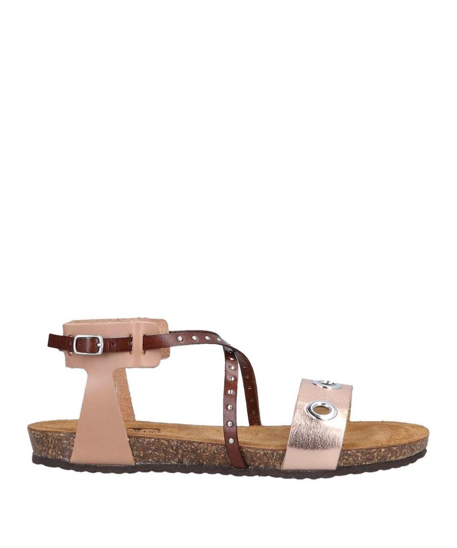 Image for Divine Follie Copper Leather Sandals