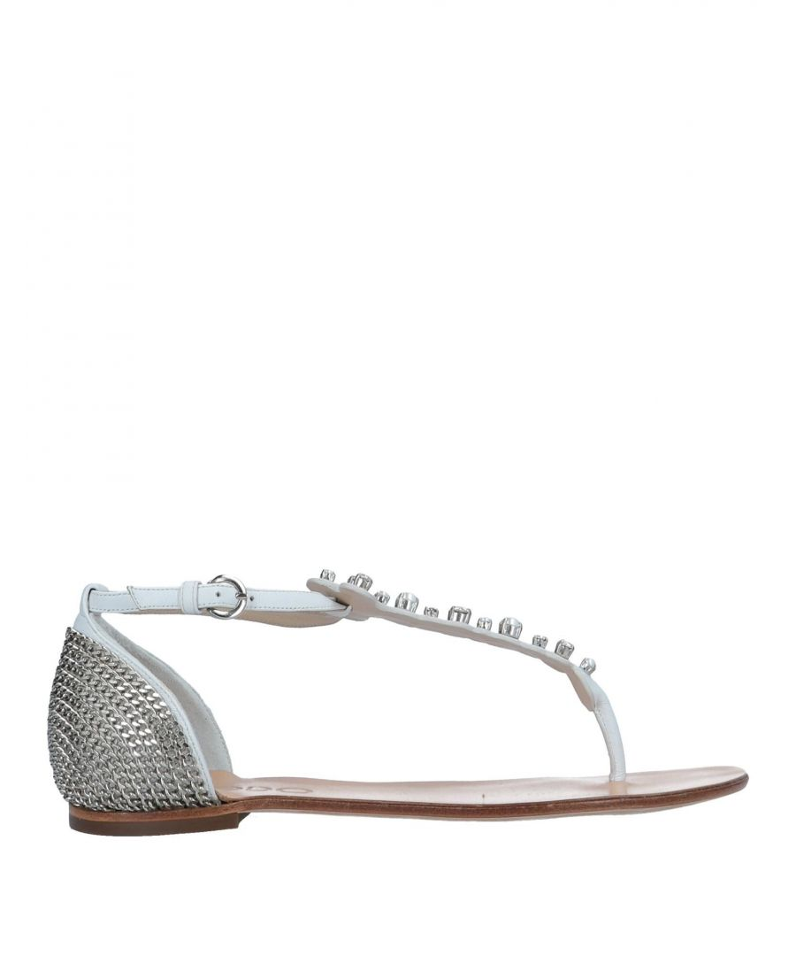 Image for Rodo White Leather Sandals