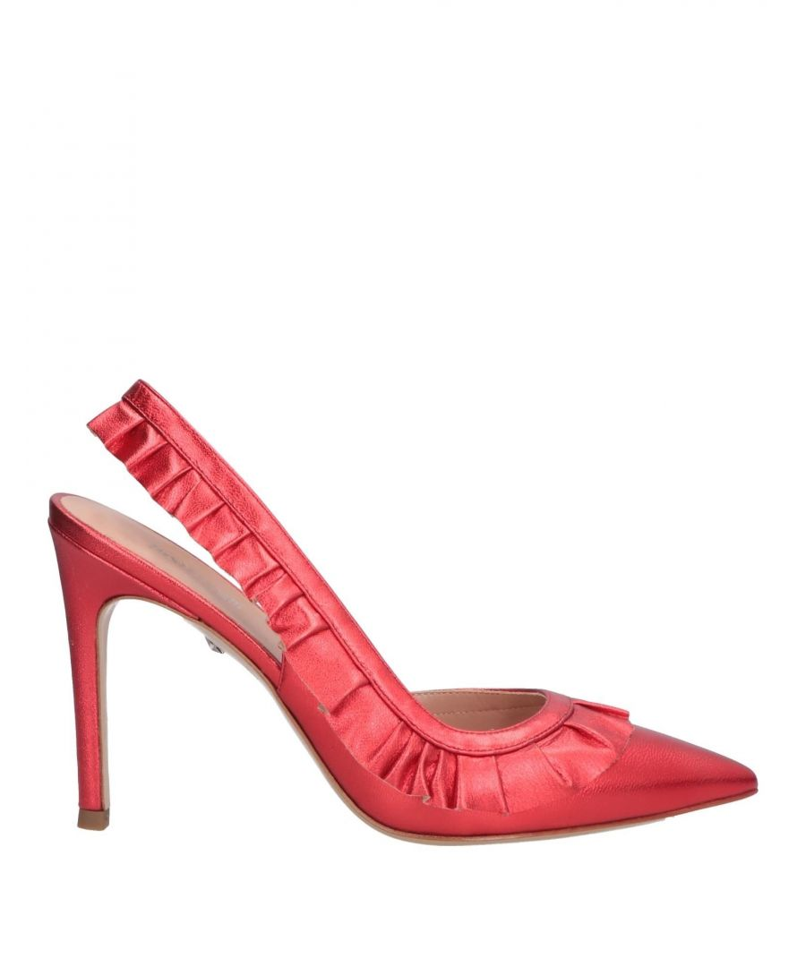 Image for Just Cavalli Red Leather Slingback Heels