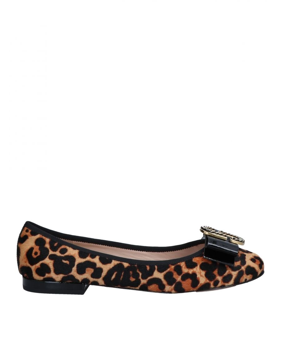Image for Marc Jacobs Beige Leopard Print Calf Leather Ballet Flats