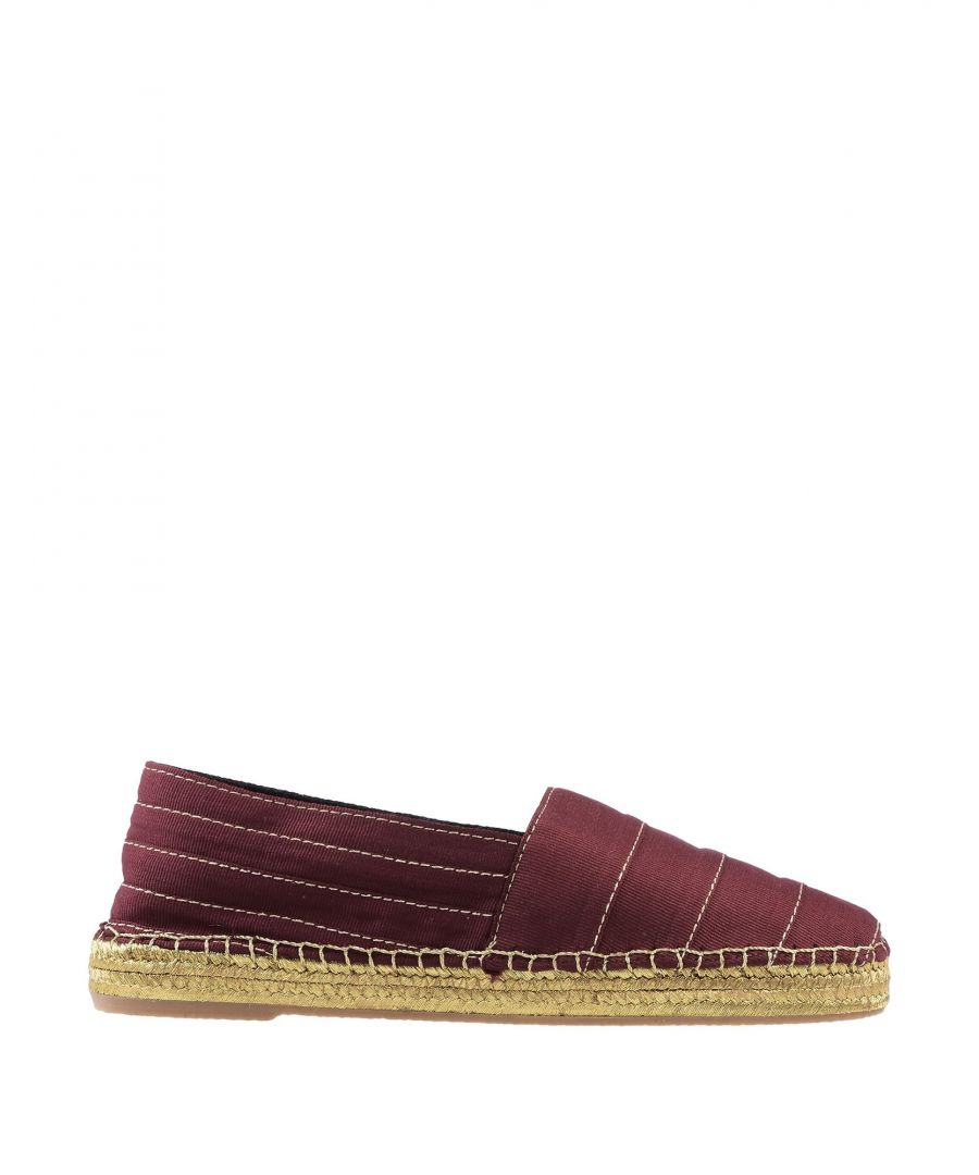Image for Marc Jacobs Maroon Embroidered Espadrilles