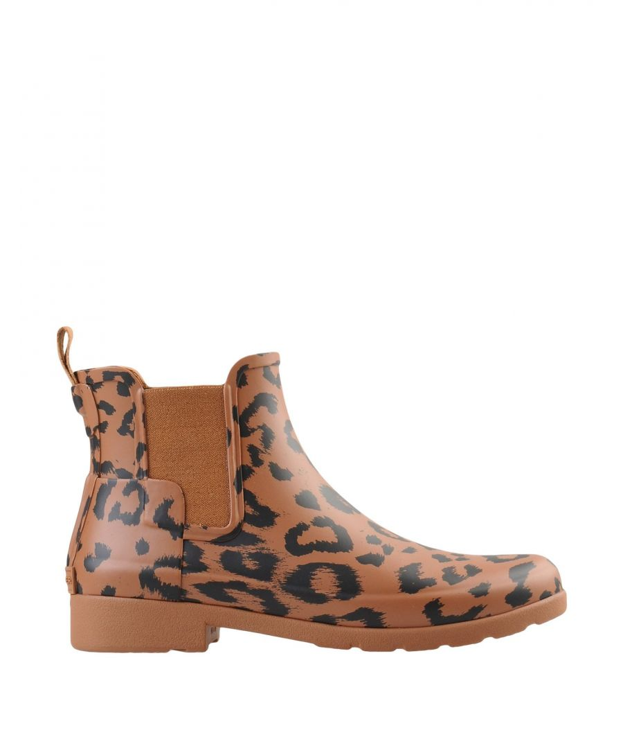 Image for Hunter Brown Leopard Print Short Wellington Boots