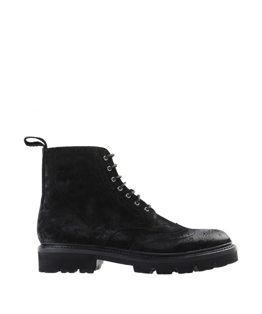 Image for Grenson Black Leather Lace Up Boots