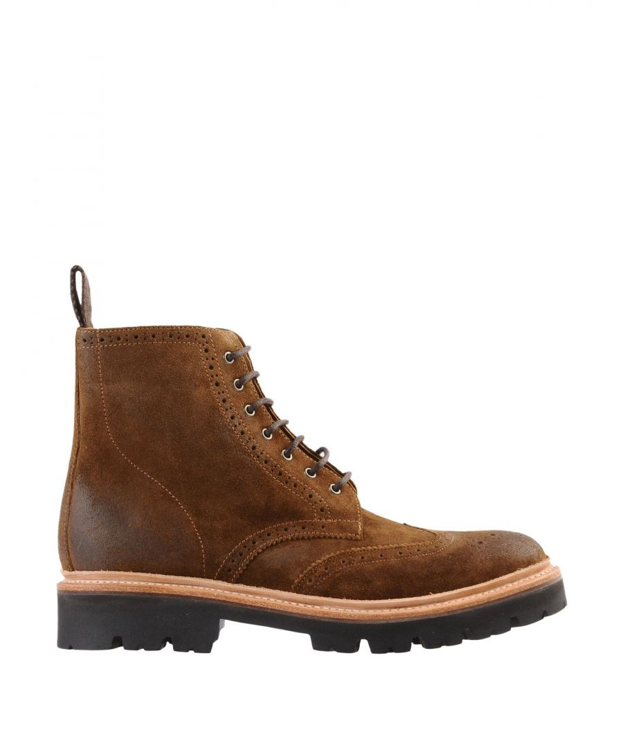 Image for Grenson Brown Leather Lace Up Boots