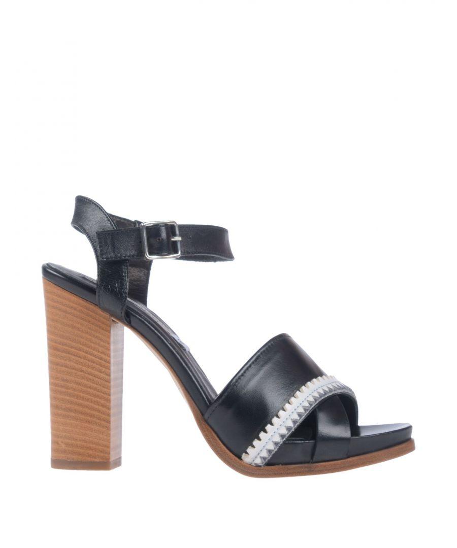 Image for Alberto Fermani Women's Sandals Black Leather