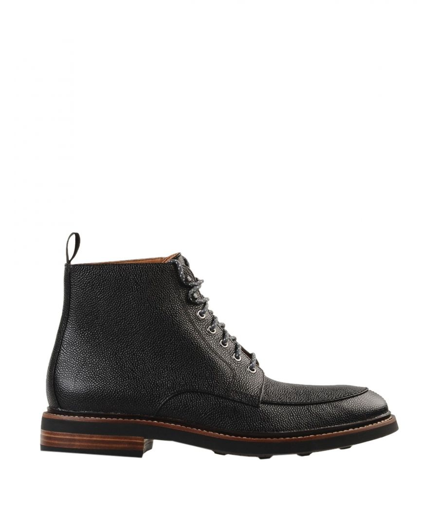 Image for Clarks Black Leather Lace Up Boots