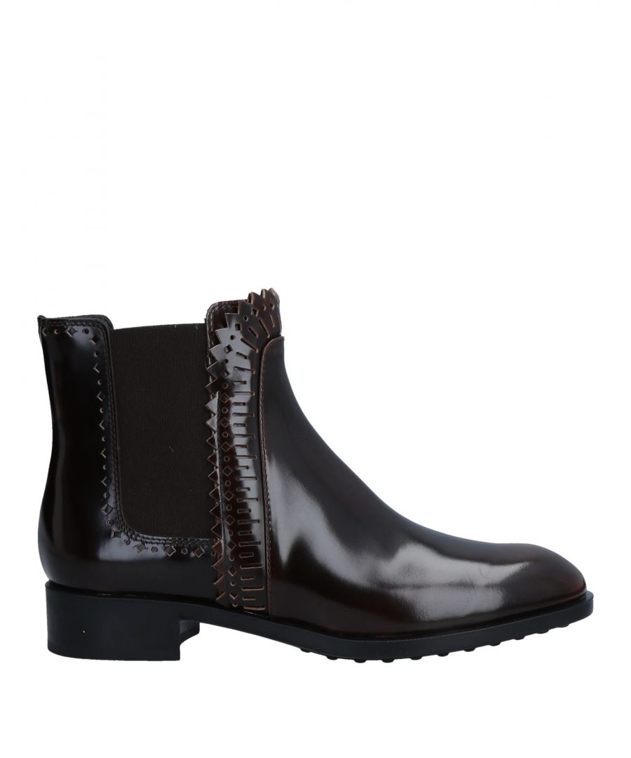 Image for Tod's Dark Brown Leather Ankle Boots