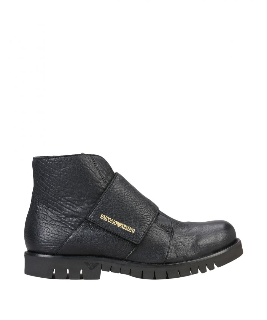 Image for Emporio Armani Black Leather Boots