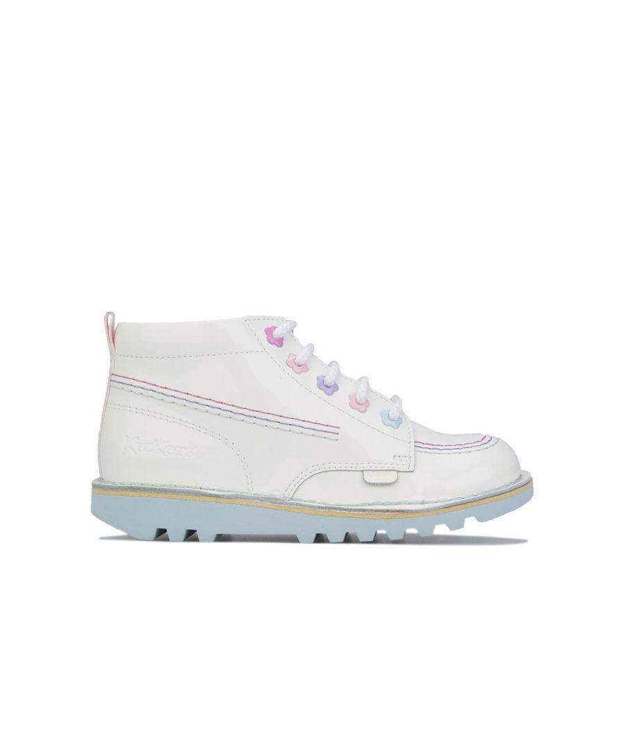 Image for Girl's Kickers Children Kick Hi Fleur Boots in White