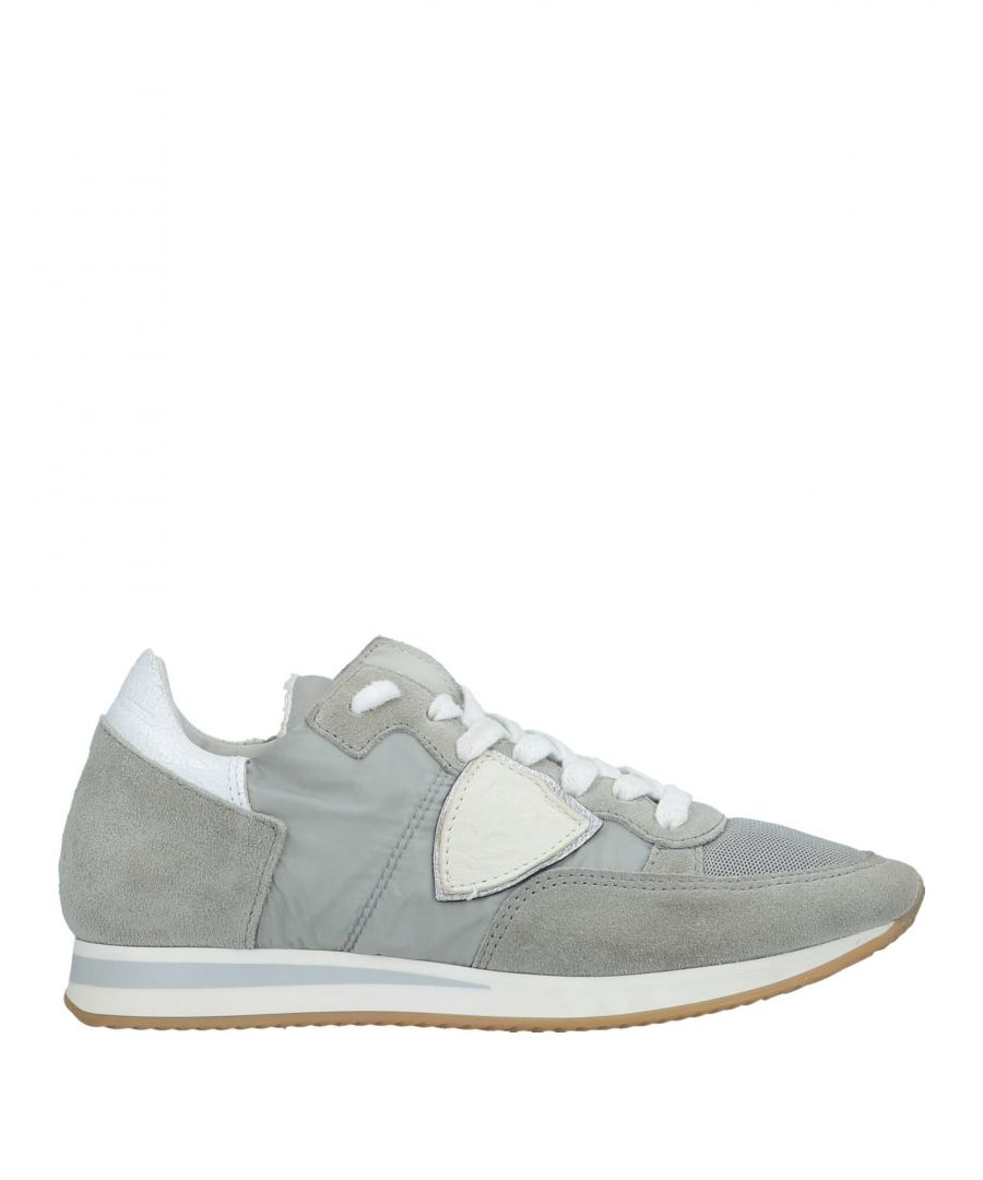Image for Philippe Model Light Grey Leather Sneakers