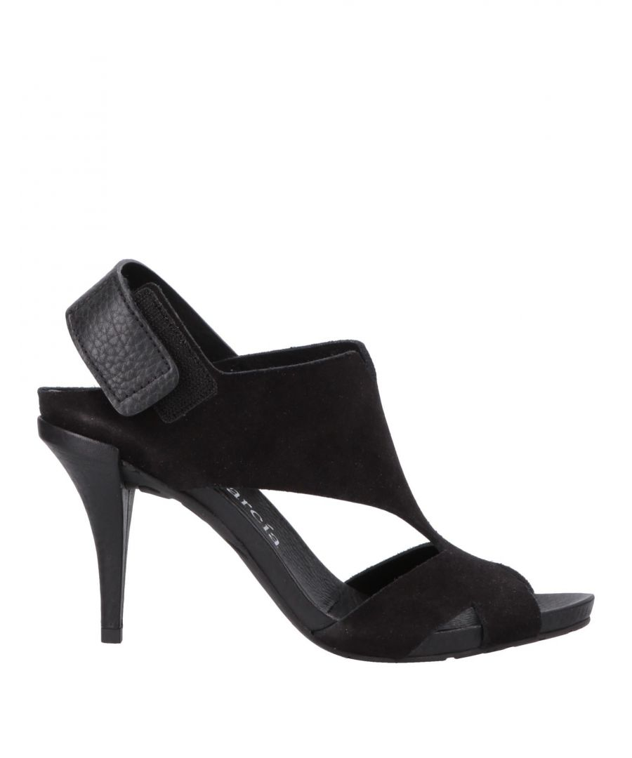 Image for Pedro Garcia Black Leather Heeled Sandals