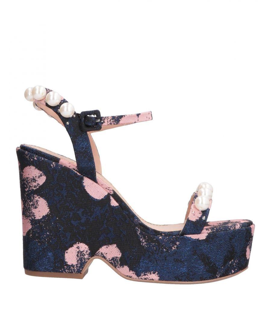 Image for Kg Kurt Geiger Dark Blue Platform Sandals