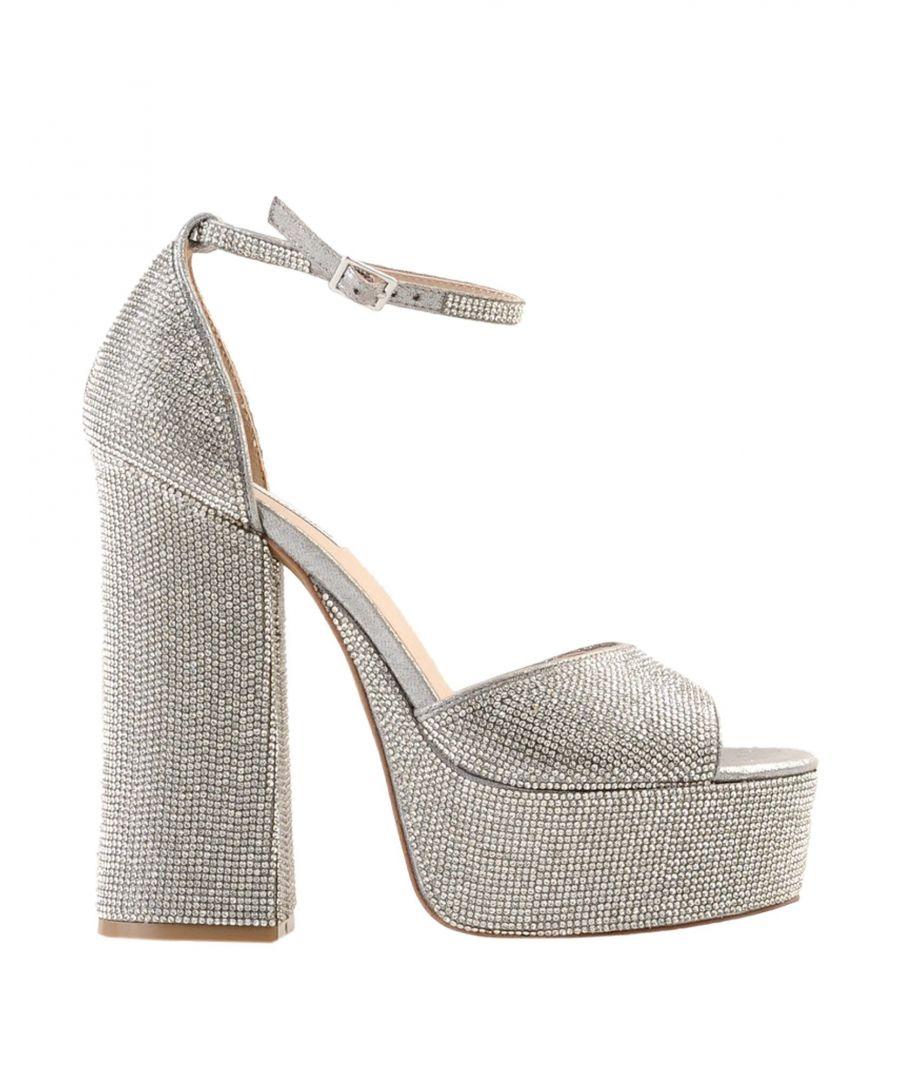 Image for Steve Madden Silver Embellished Heeled Sandals