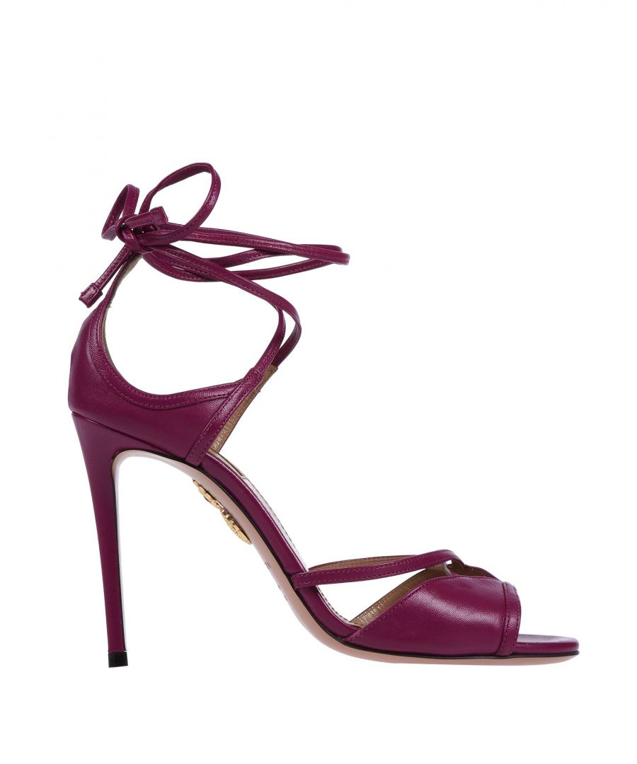 Image for Aquazzura Purple Leather Heels