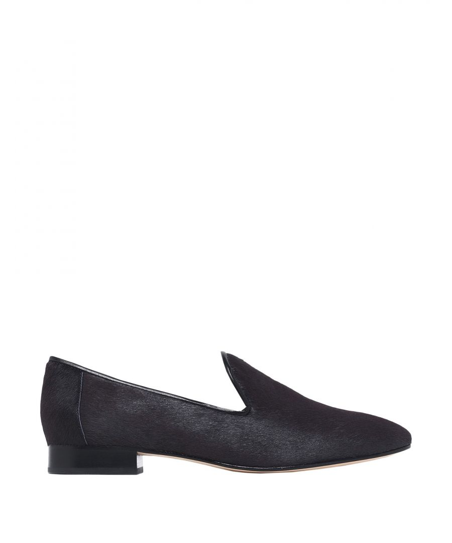 Image for Diane Von Furstenberg Steel Grey Calf Leather Loafers