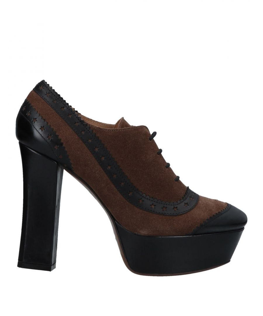 Image for L' Autre Chose Brown Leather Lace Up Heels