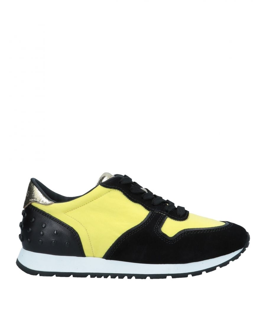 Image for Tod's Yellow Leather Sneakers
