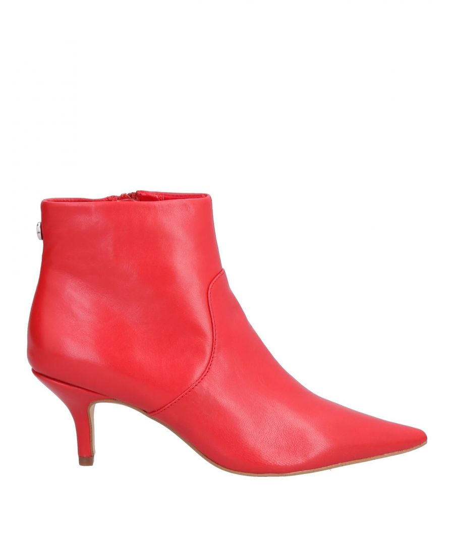 Image for Steve Madden Red Leather Ankle Boots