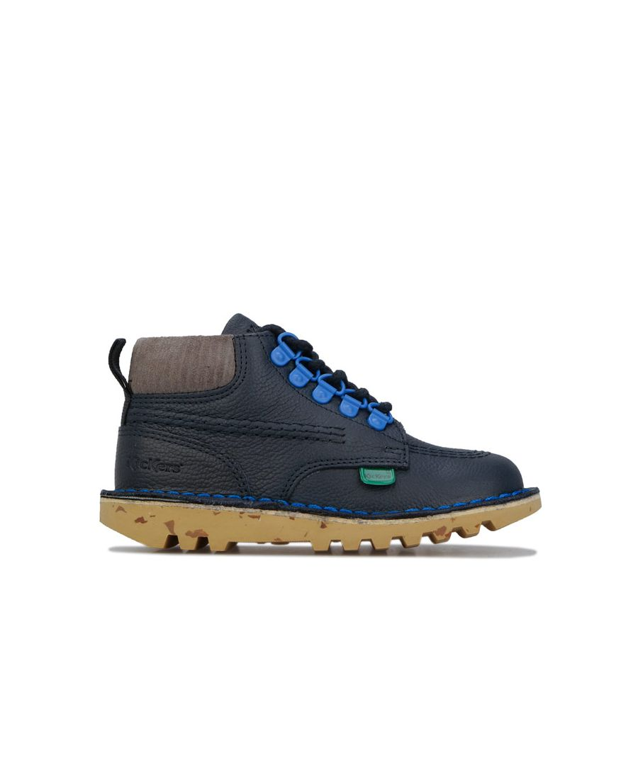 Image for Boy's Kickers Children Kick Hi Boots in Dark Blue