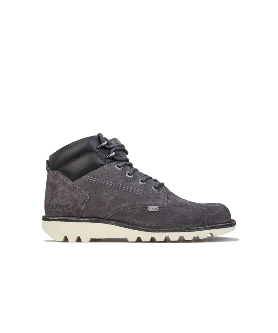 Image for Men's Kickers Kick Rover Leather Boots in Grey