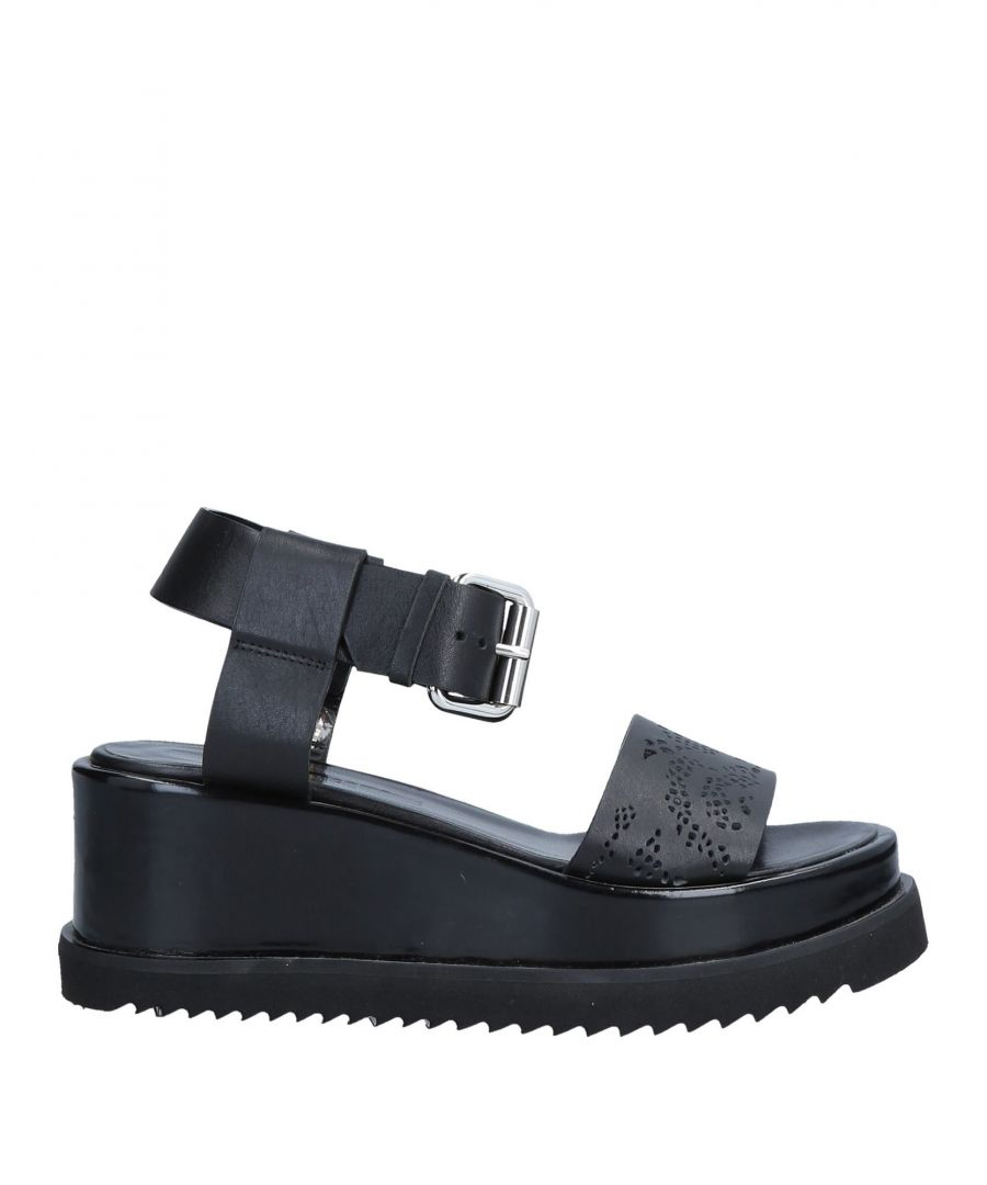 Image for Mcq Alexander McQueen Black Leather Sandals