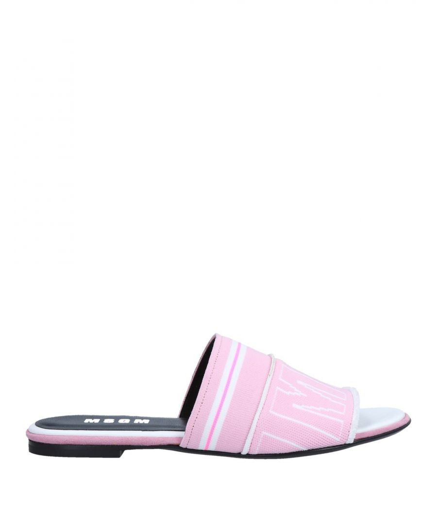 Image for MSGM Pink Logo Sandals