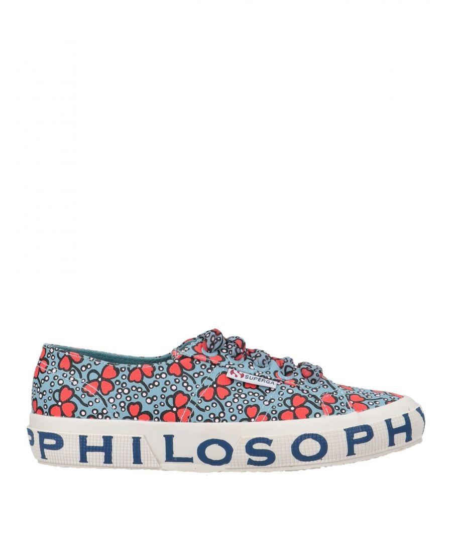 Image for Superga X Philosophy Di Lorenzo Serafini Azure Floral Design Cotton Canvas Sneakers