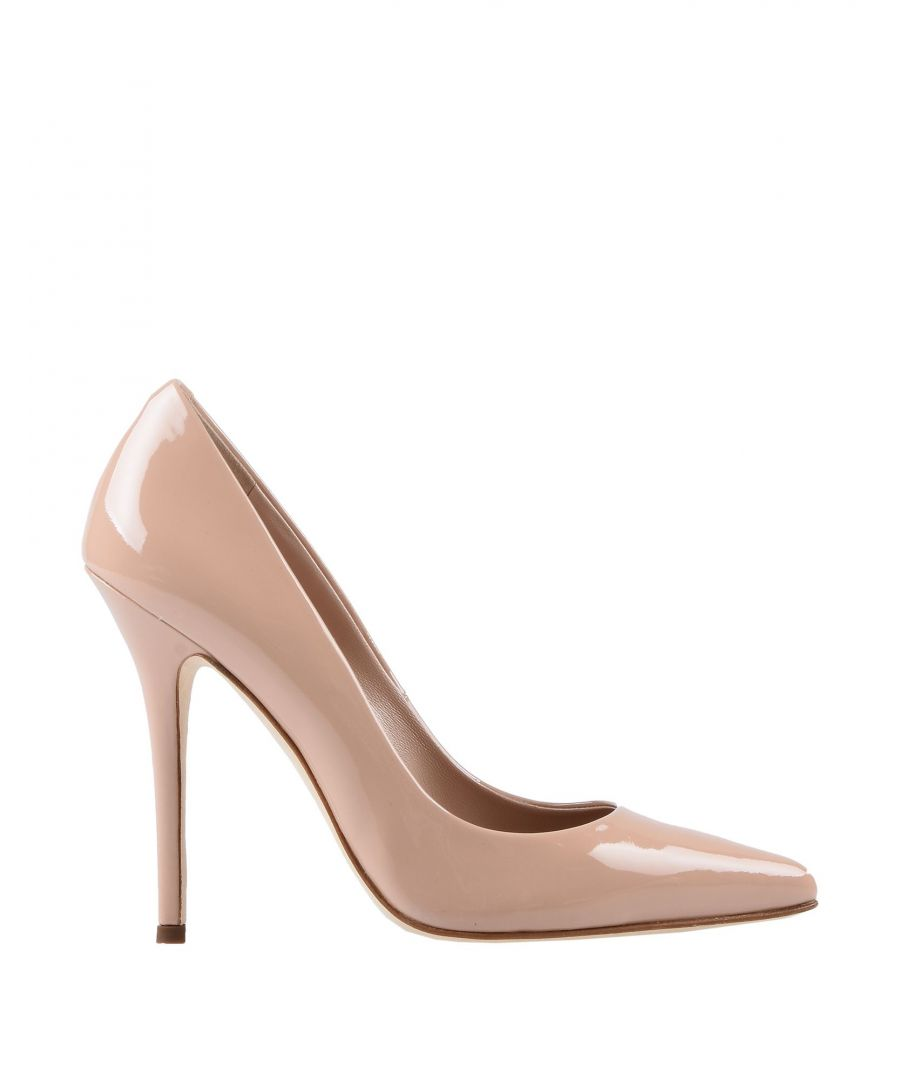 Image for Giuseppe Zanotti Pale Pink Leather Court Shoe Heels