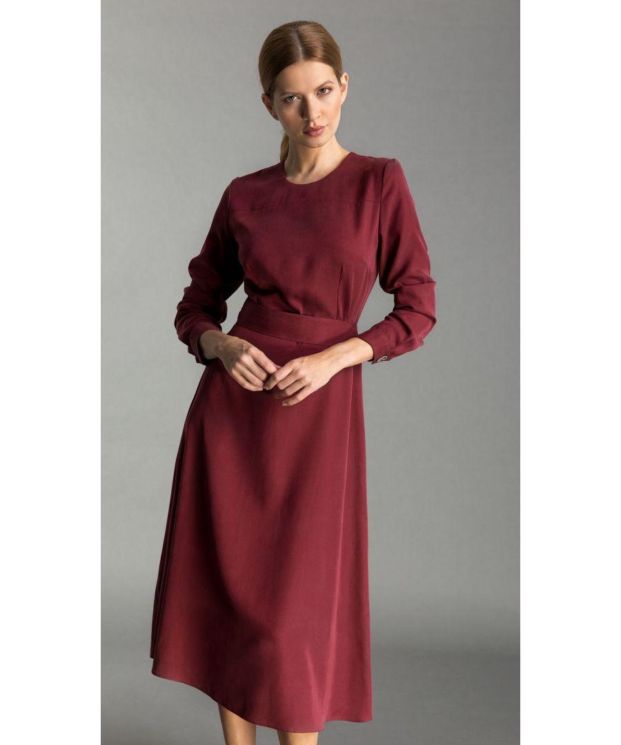 Image for Emma Pastel Claret Dress
